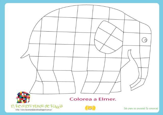 Colorea a Elmer Lectoescritura | Abecedário | Pinterest | Activities ...