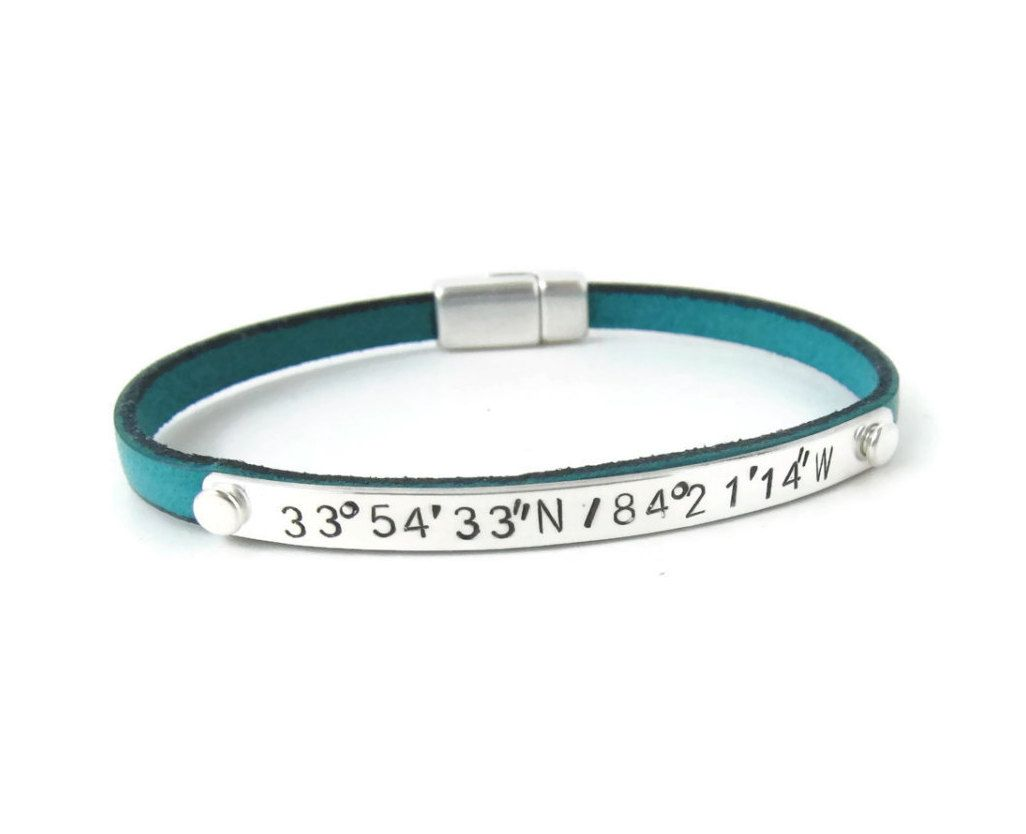 women men designs jewelry coordinates gps longitude drake bracelet or latitude products coordinate for