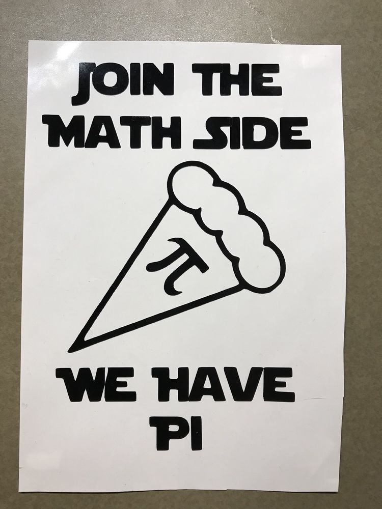 Join The Math Side We Have Pi Star Wars Parody Vinyl Decal 4 Laptop Car Window Unbranded Math Quotes Math Teacher Shirts Math