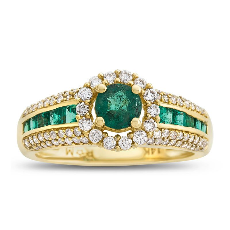Fine Jewelry LIMITED QUANTITIES! Womens 1/10 CT. T.W. Genuine Emerald 10K Gold Cocktail Ring cApKQ0zrtM