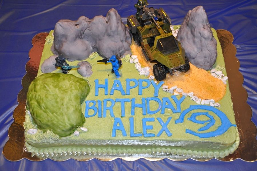 Halo birthday cake for 9 year old birthday cake ideas Pinterest