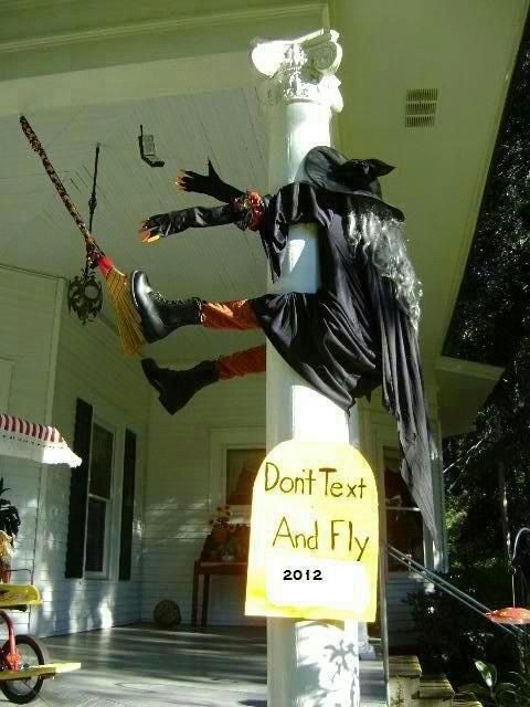 Please be safe this Halloween... don't text and fly gosh darn it!!