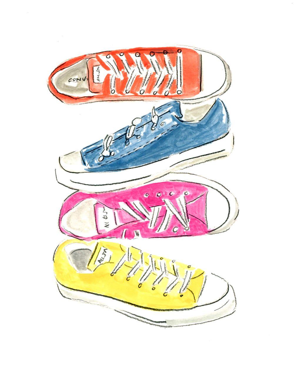 c0589bdf4283b Converse Sneakers, Instant Art Print, Fashion Print, Shoe Art ...