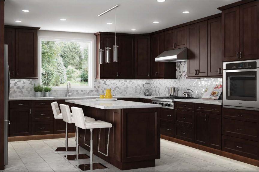 Ebony Shaker Kitchen Cabinets in 2019 | Espresso kitchen ...