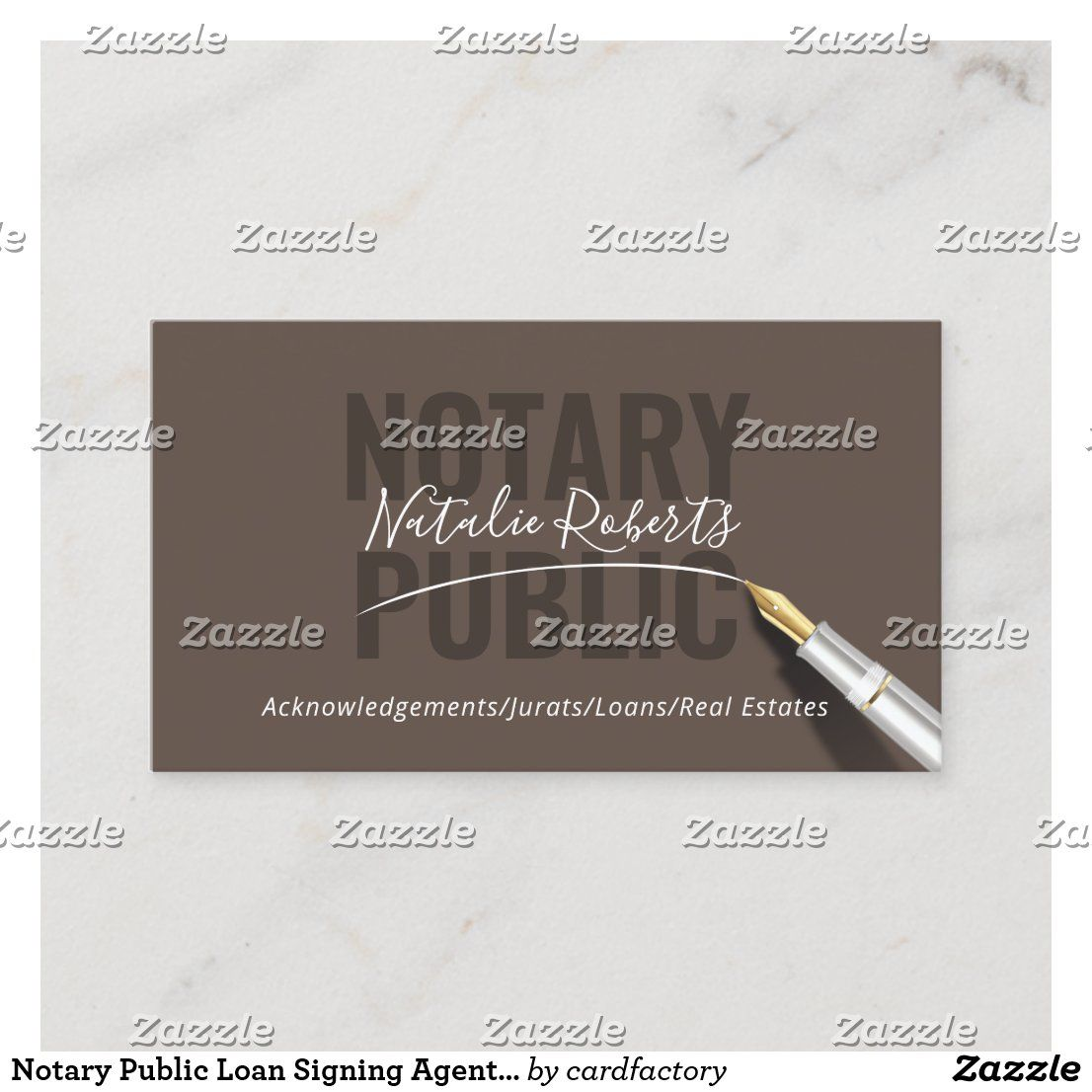 Notary Public Loan Signing Agent Signature Business Card