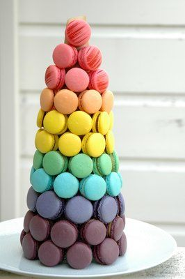 9594fd88fa708 rainbow macaron tower! | { party time } in 2019 | Macaron tower ...