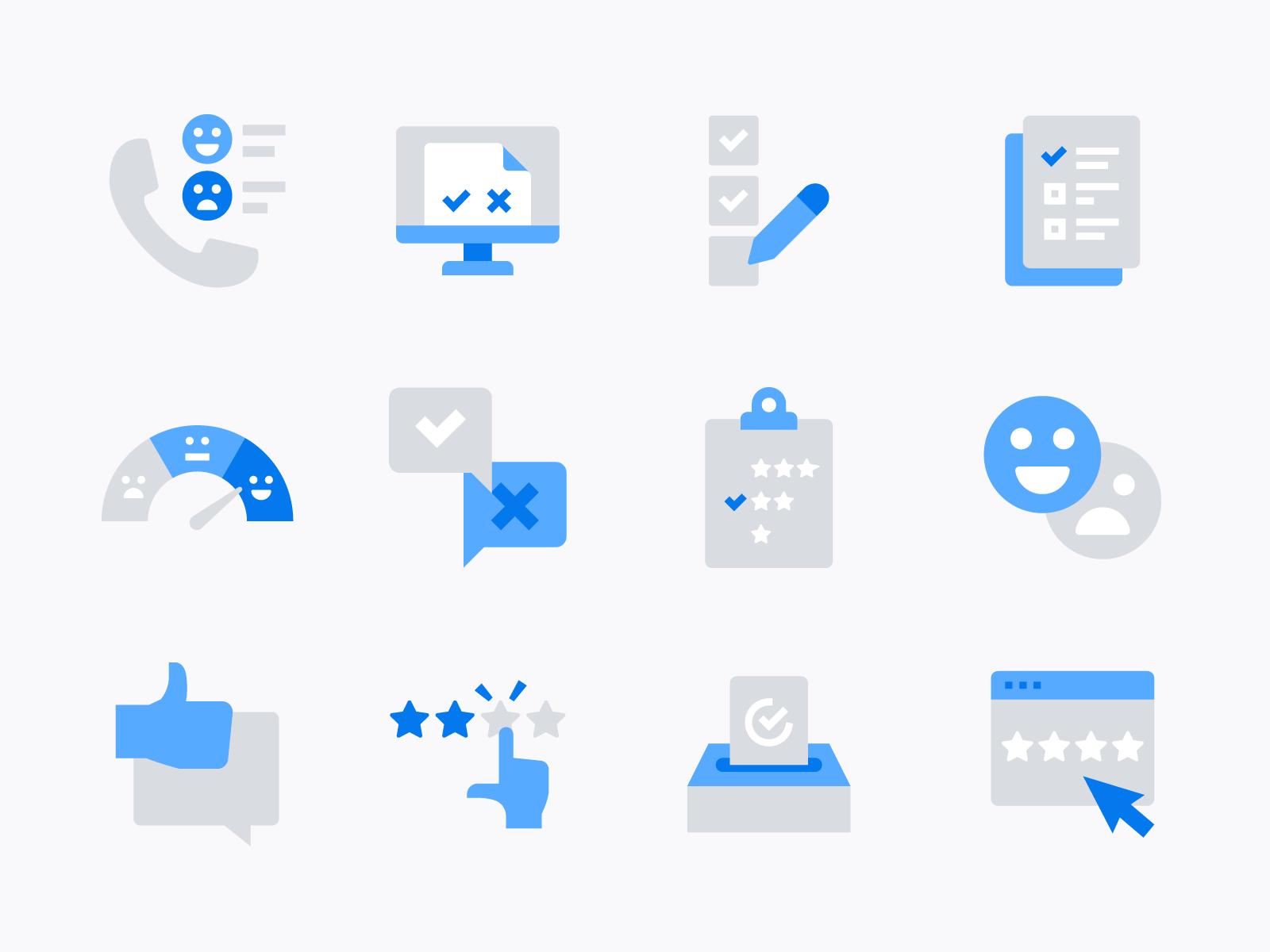 Customer Feedback Survey Icons Survey Icon Flat Design Icons Icon Design Inspiration