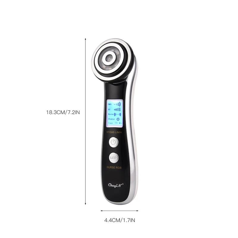 rf ems led photon rejuvenation massage machine face lift skin tighten rex6free massage machine radio frequency facial skin tightening