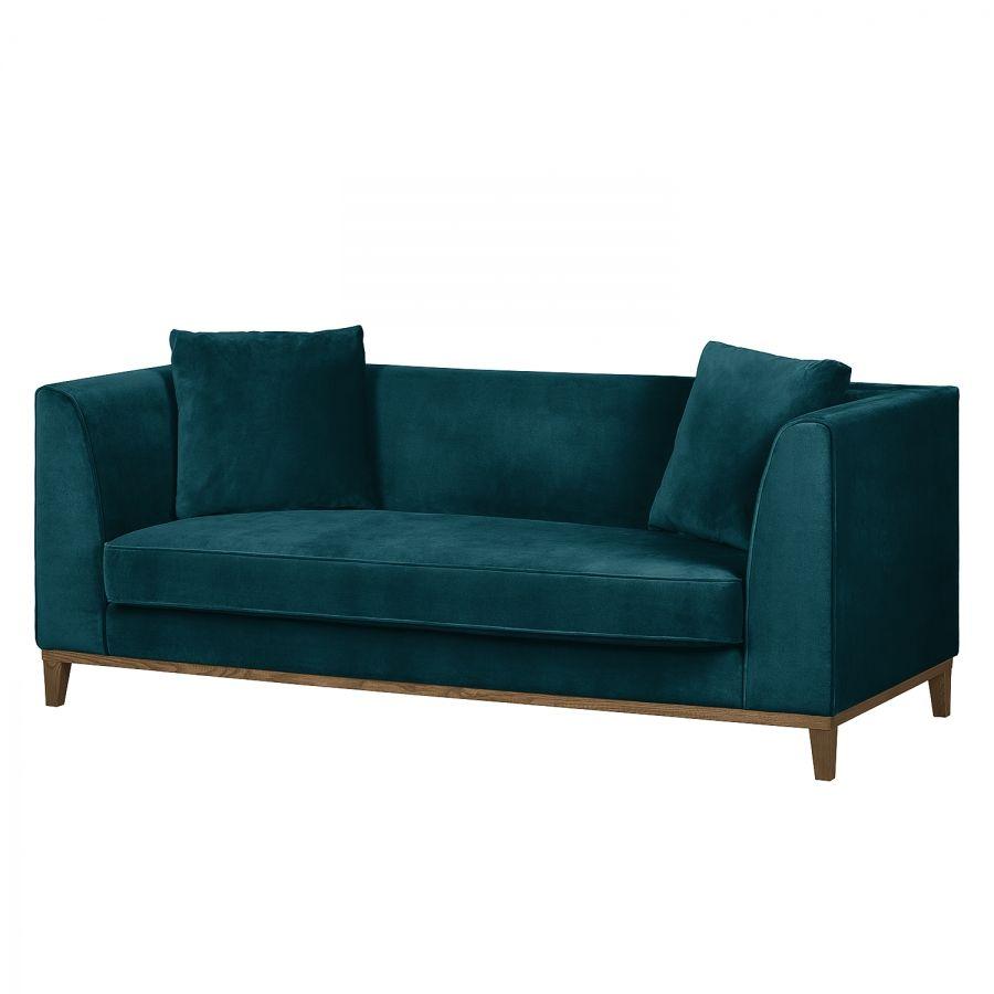 Sofa Blomma (3-Sitzer) Samt Petrol | Interiors