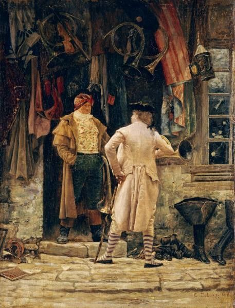 The Bargain by Delort, Charles Edouard - Wall Art Giclee Print or Canvas