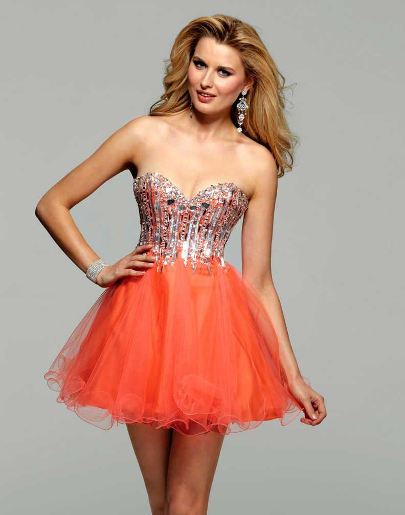Clarisse Orange Short Prom Dress 2016 - More Colors Available ...