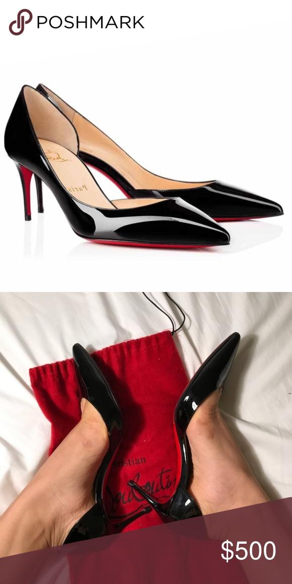 4c4e9f77bb21 Christian Louboutin Iriza 70mm Black Patent Brand new Guaranteed  authenticity Christian Louboutin Shoes Heels