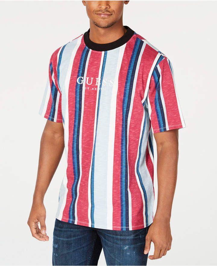 1b3de14a09 GUESS Originals Men Striped Logo T-Shirt in 2019   Products   T ...