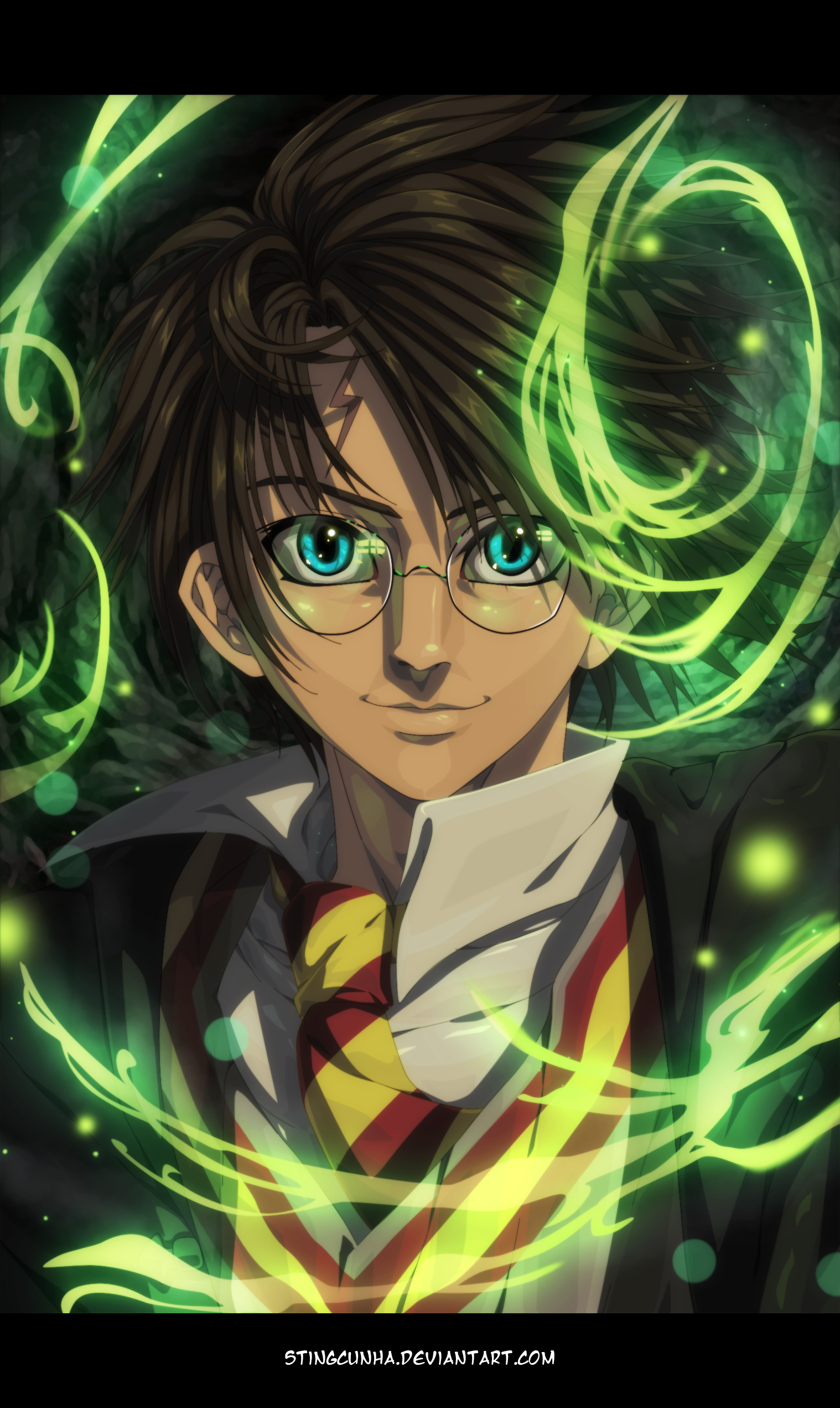Harry Potter Anime Version by StingCunha on DeviantArt in