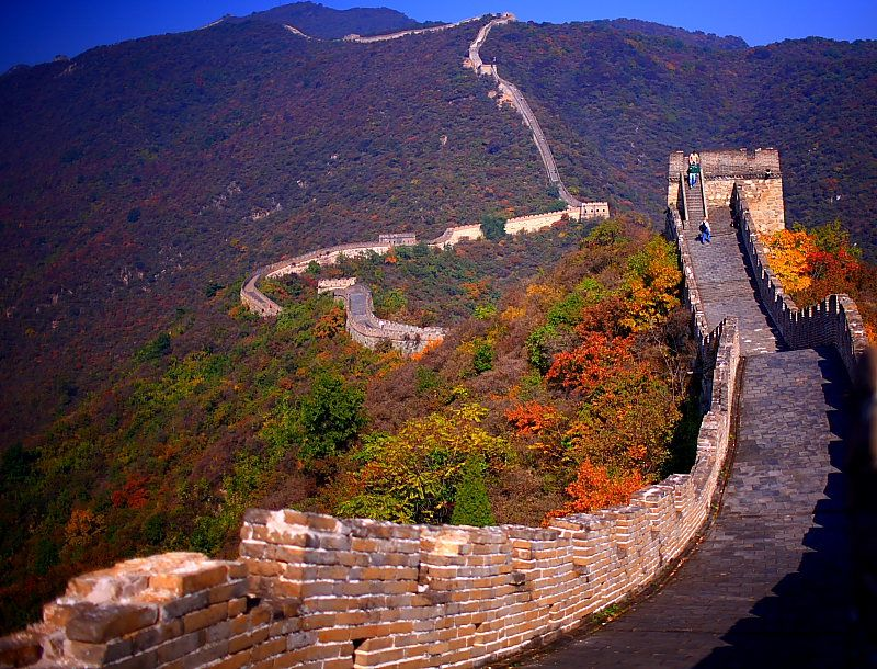 Autumn Great View On The Great Wall Beijing Autumn Greatwall