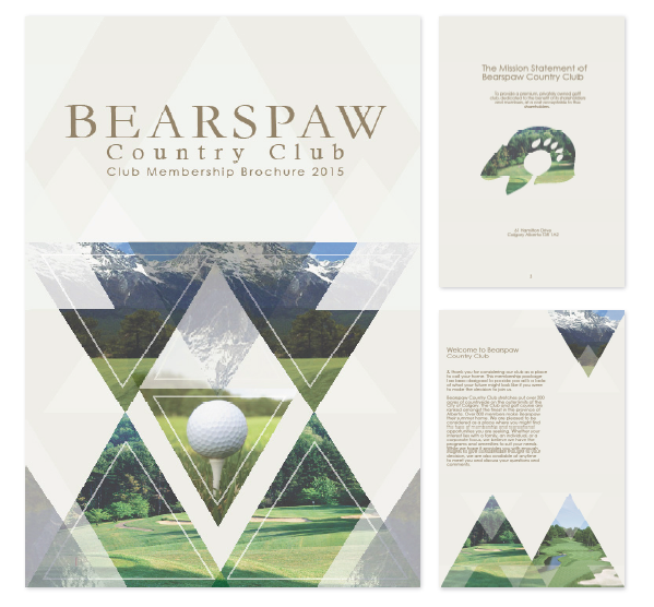 Golf Course Brochure By Brittany Carey Via Behance