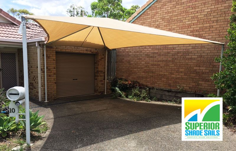 Sail Shade Replacement In Eight Mile Plains Brisbane Carport Replacement Shade Sail Hyp Ridge Structure Shade Sail Installation Shade Sail Front Yard