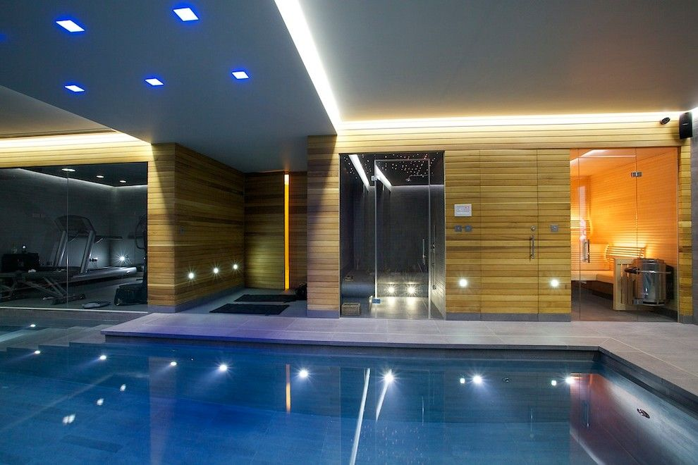 Basement workout room ideas pool modern with swimming pool for Basement swimming pool ideas