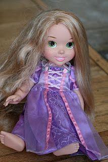 doll hair detangler: because Meg can jack some dolls' hair up!