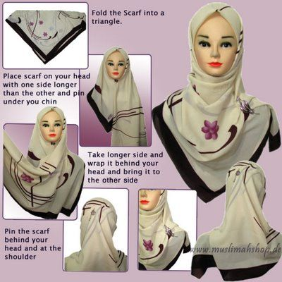 how to wear niqab with square scarf