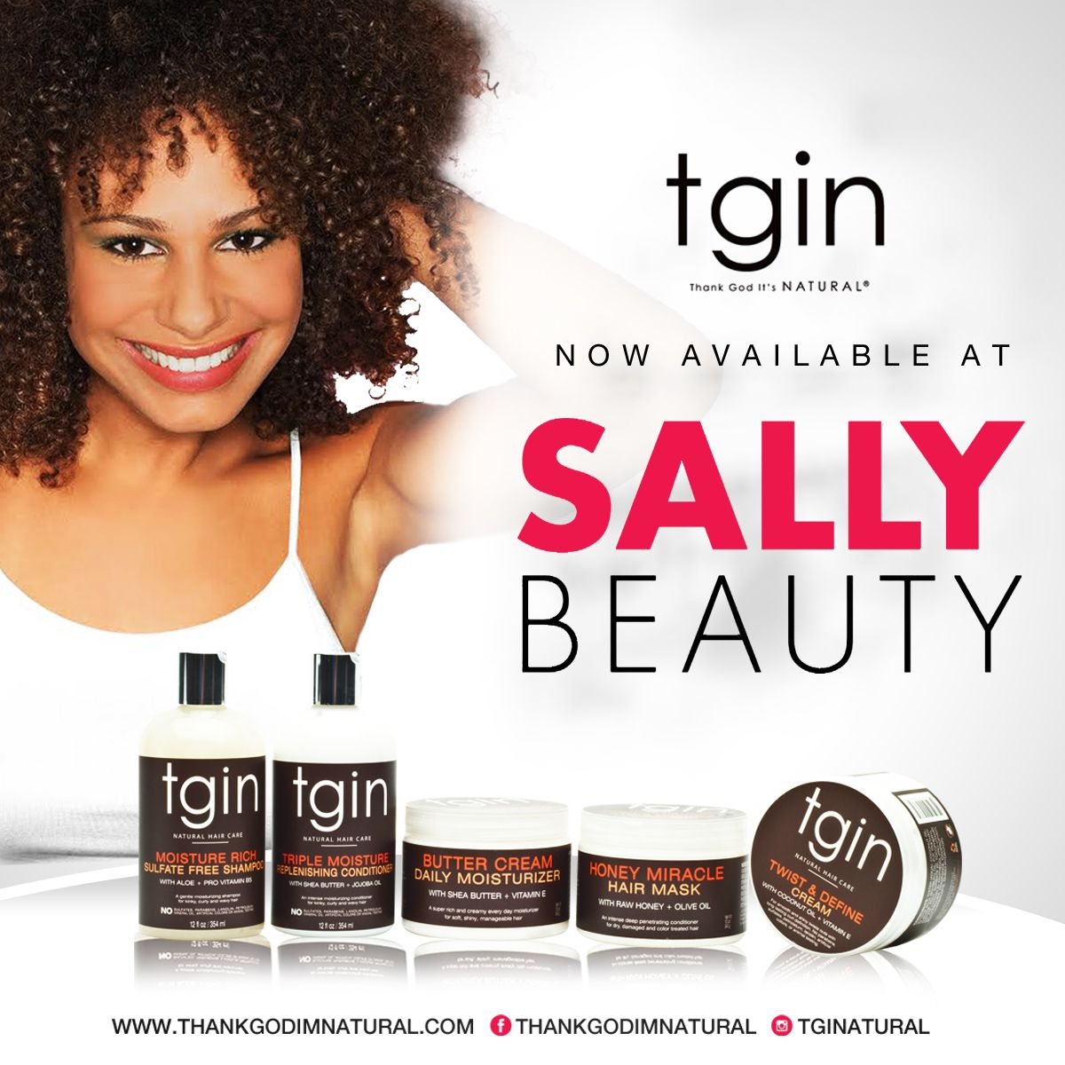 tgin Natural Hair Products for Dry Hair Now in 500+ Sally's Beauty Supply Stores | tgin
