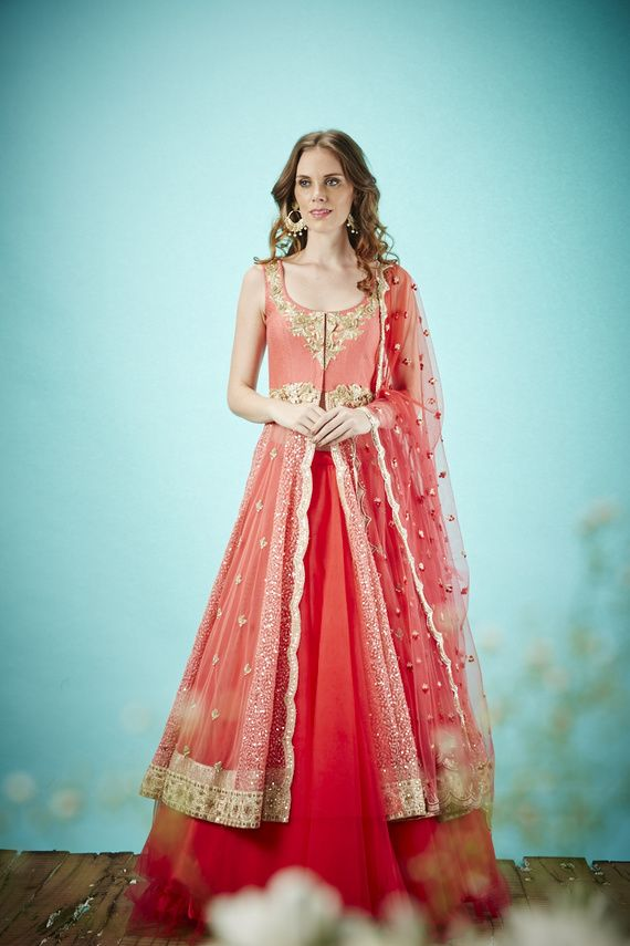 jacket lehengas | Gowns, Clothes and Fashion