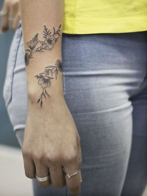 This Is Really Pretty But On The Ankle Instead Of Wrist Meaningful Wrist Tattoos Simple Wrist Tattoos Tattoos