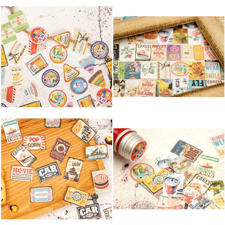 Retro Stickers Planner Stickers Bullet Journal Kit Vintage Etsy Planner Stickers Etsy Vintage Retro