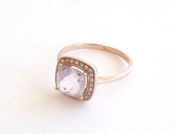 3 C Rose De France Cushion Cut Engagement Ring by TheFamilyJoolz