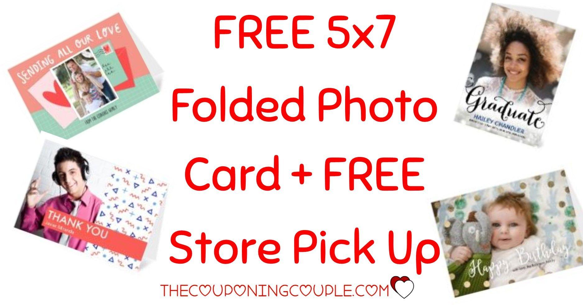 Free 5x7 folded photo card at cvs free pick up photo