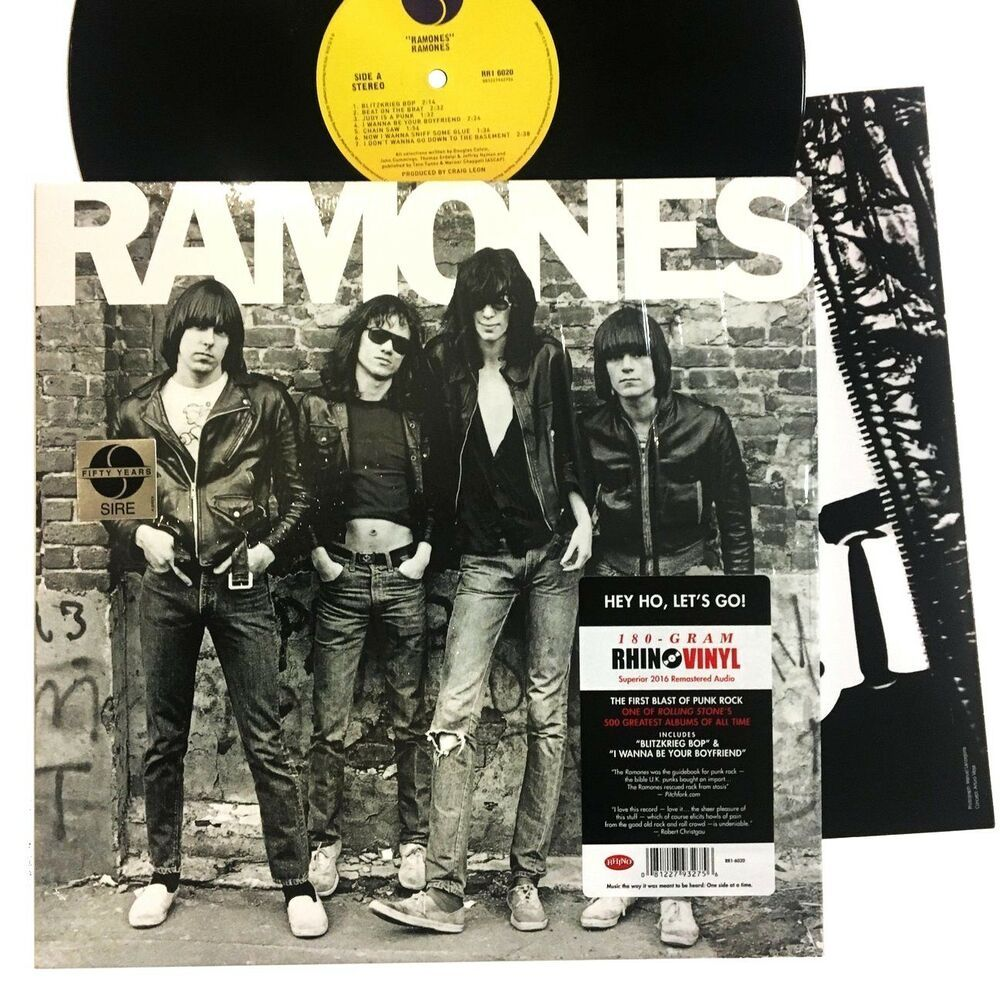 The Ramones Self Titled In Shrink Lp Vinyl Record Album Rhino 180g 180 Gram In 2020 Vinyl Record Album Ramones Vinyl Records