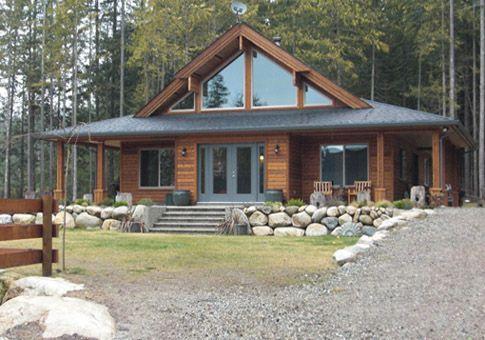 We Love Ranch Style Log Homes Cedar Homes House Exterior