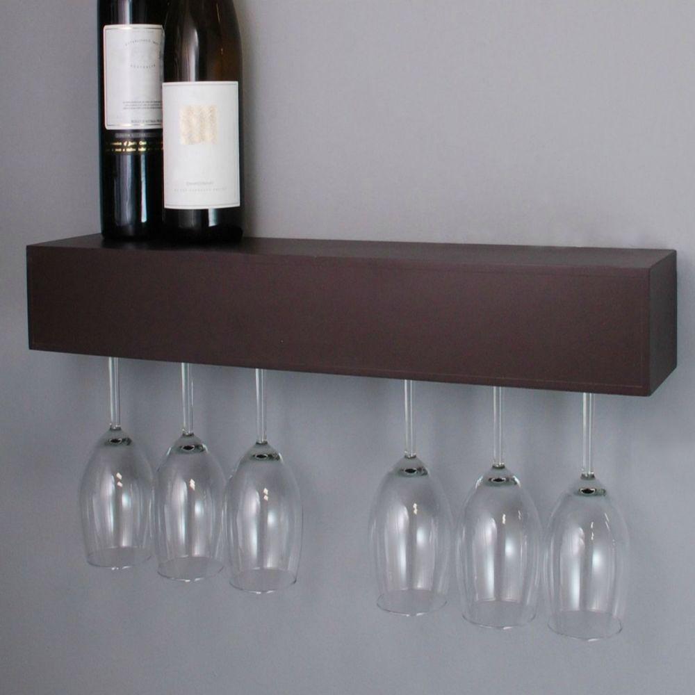 Details About Wine Glass Rack Holder Wall Wood Hanging Storage Hanger Bar Mount Cabinet Shelf Wine Glass Shelf Wine Glass Rack Wine Rack Wall