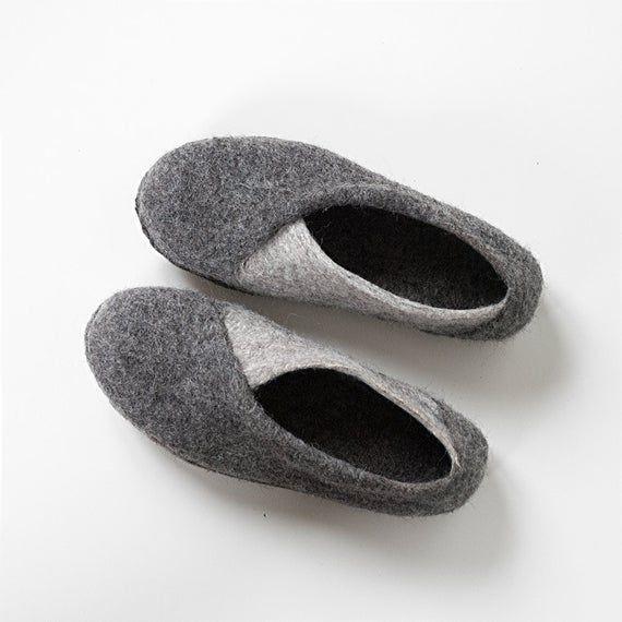 Photo of Pantofole conenvelope grigie scarpe da casa accoglienti | Etsy