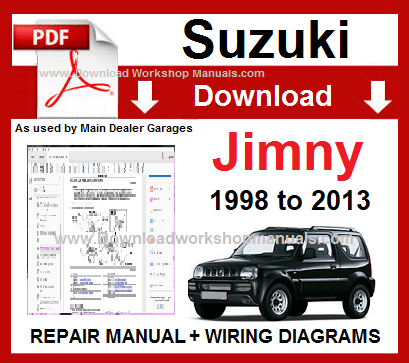 Suzuki Jimny 1998 To 2013 Workshop Repair Manual Download Repair Manuals Grand Vitara Pajero Io