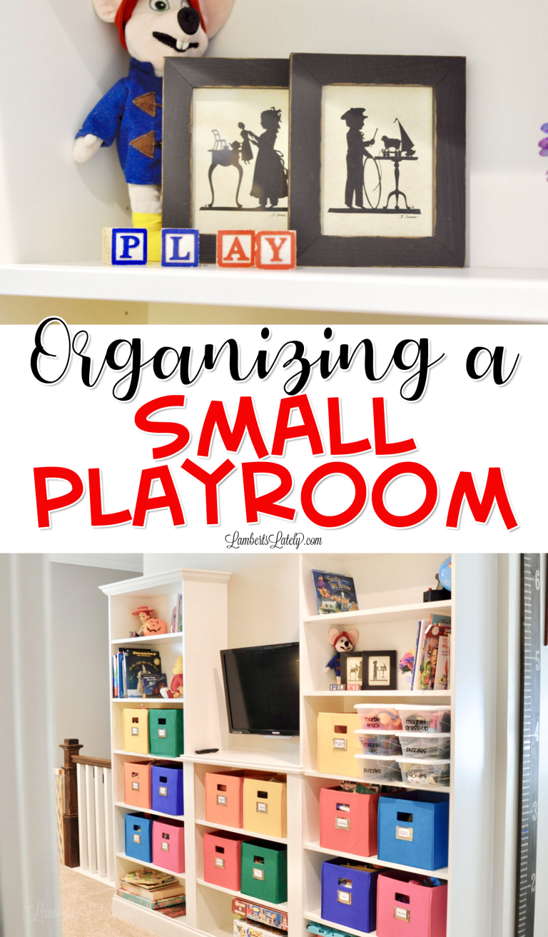 How We Organized Our Small Playroom images