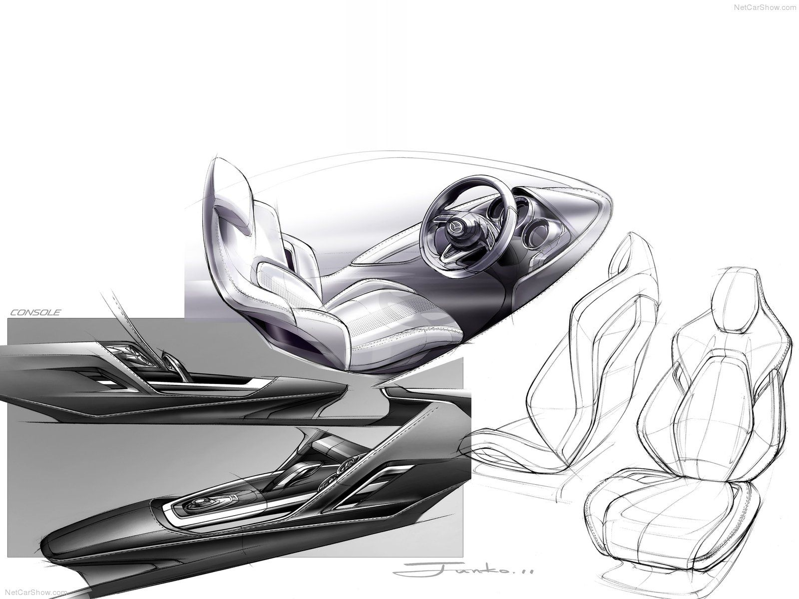 Seat Design Mazda Interior Car Interior Sketch