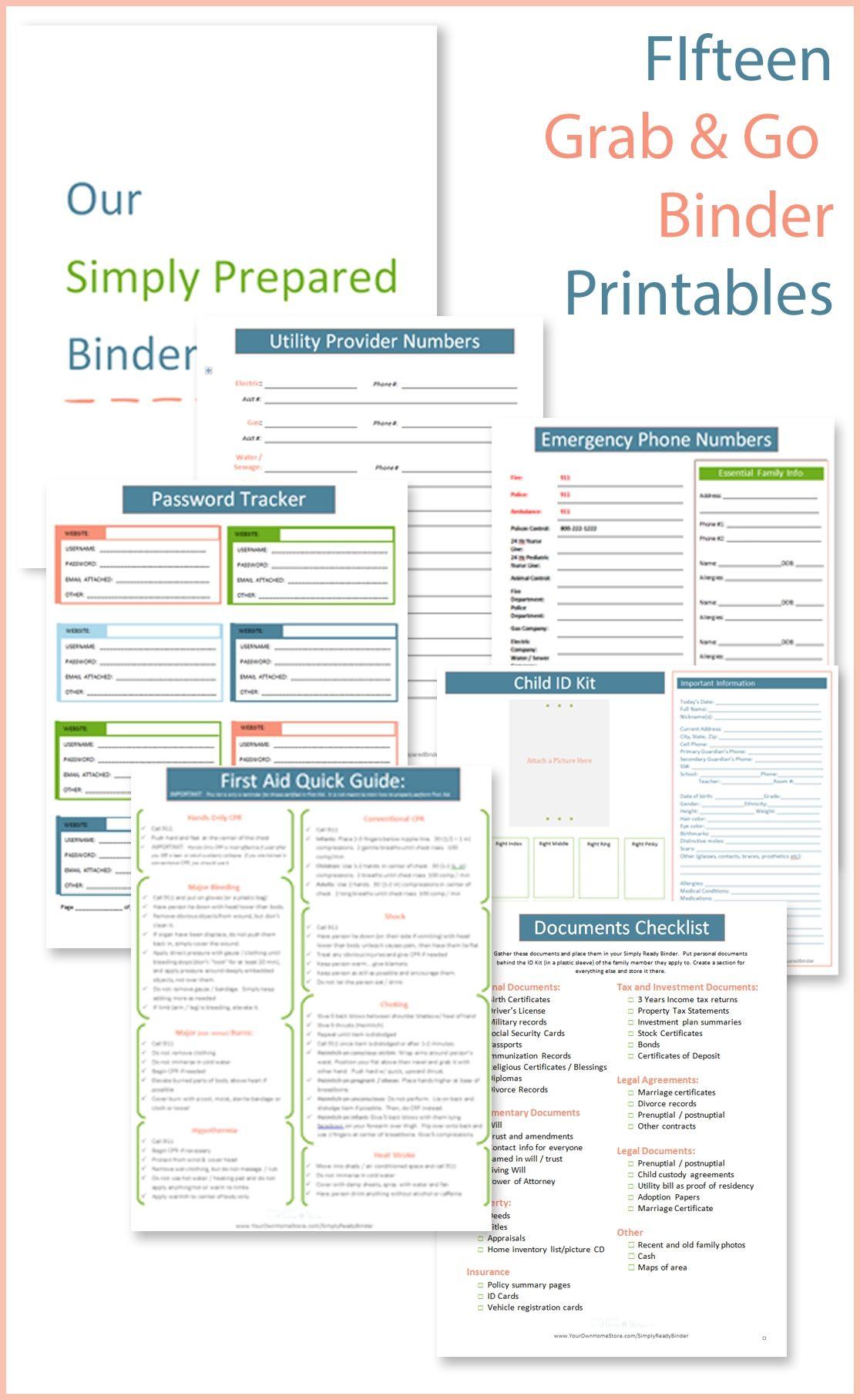 The 25 Best Emergency Preparedness Binder Ideas