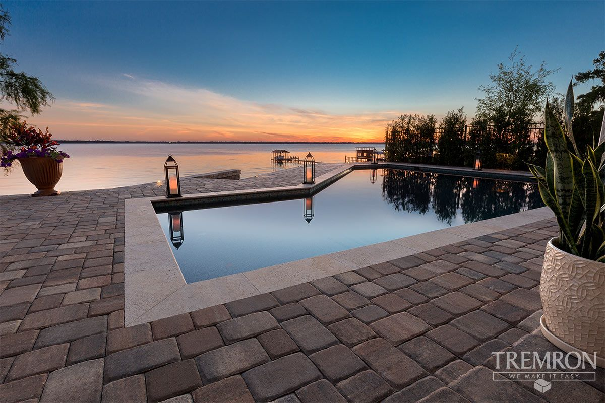 Create An Elegant Pool Deck With Olde Towne Pavers From