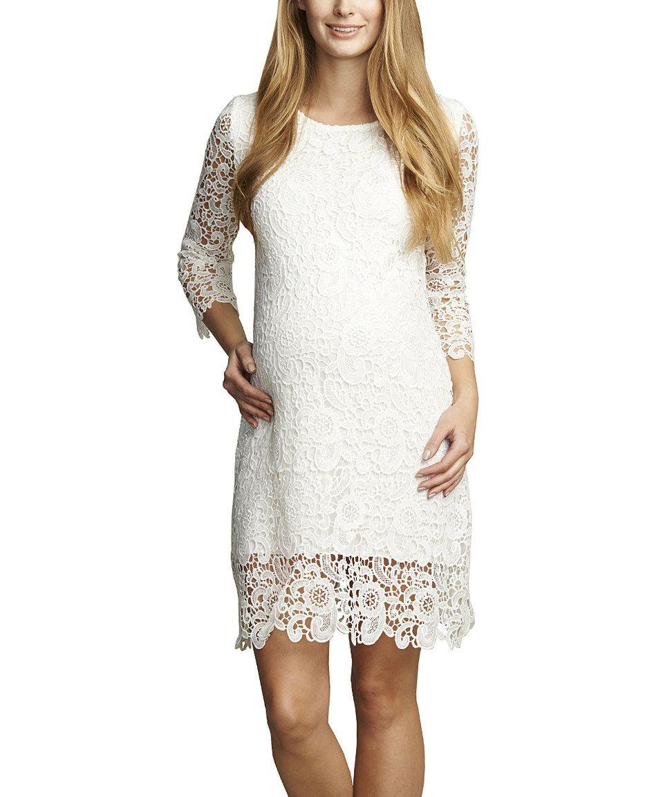 This urban ma white crochet three quarter sleeve maternity dress this urban ma white crochet three quarter sleeve maternity dress by urban ma is perfect ombrellifo Image collections