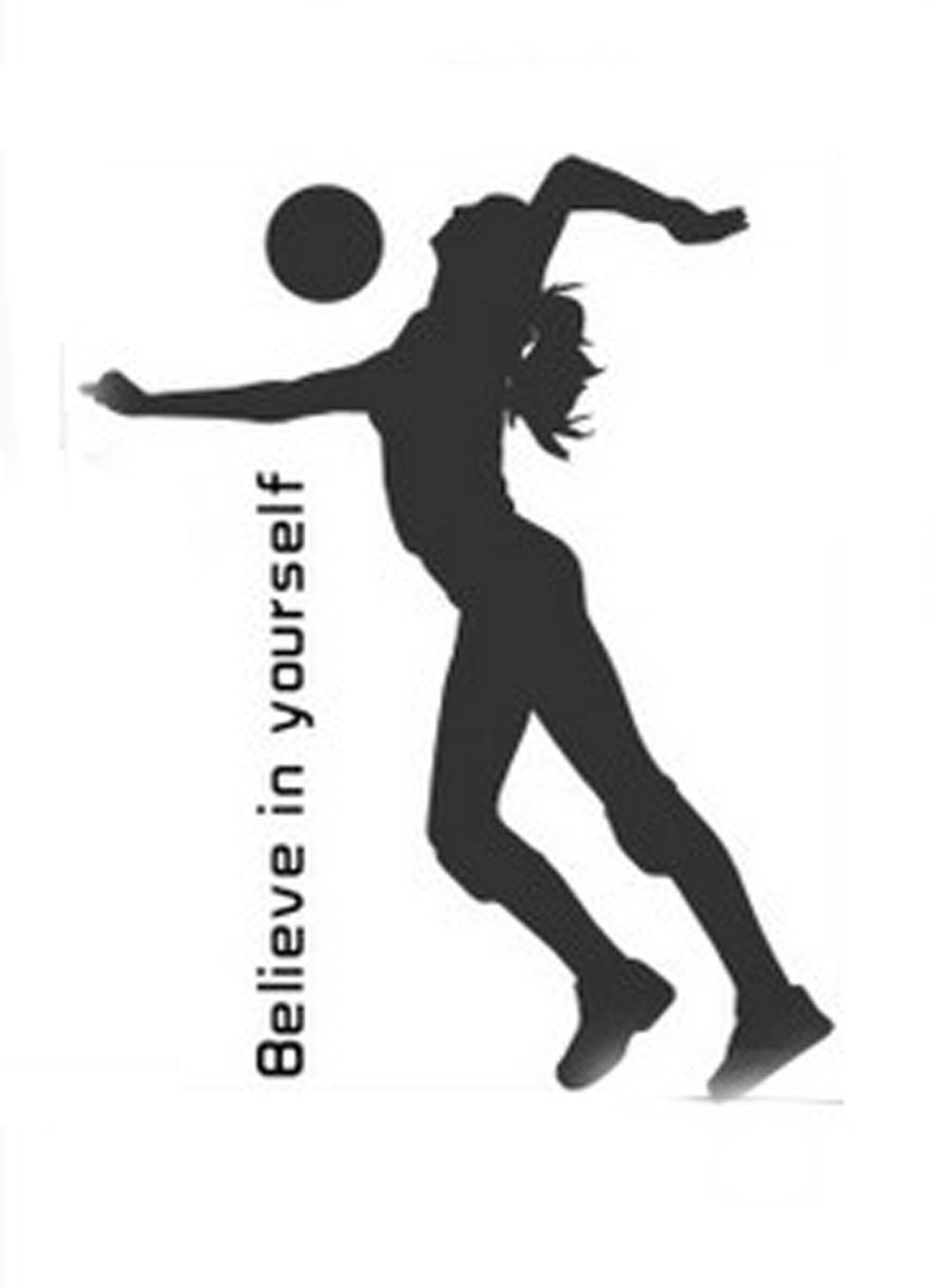 Amazon Com Sporting Volleyball Believe In Yourself Wall Decal Sticker Living Room Stickers Vinyl Removable Wid Room Stickers Wall Decal Sticker Vinyl Sticker