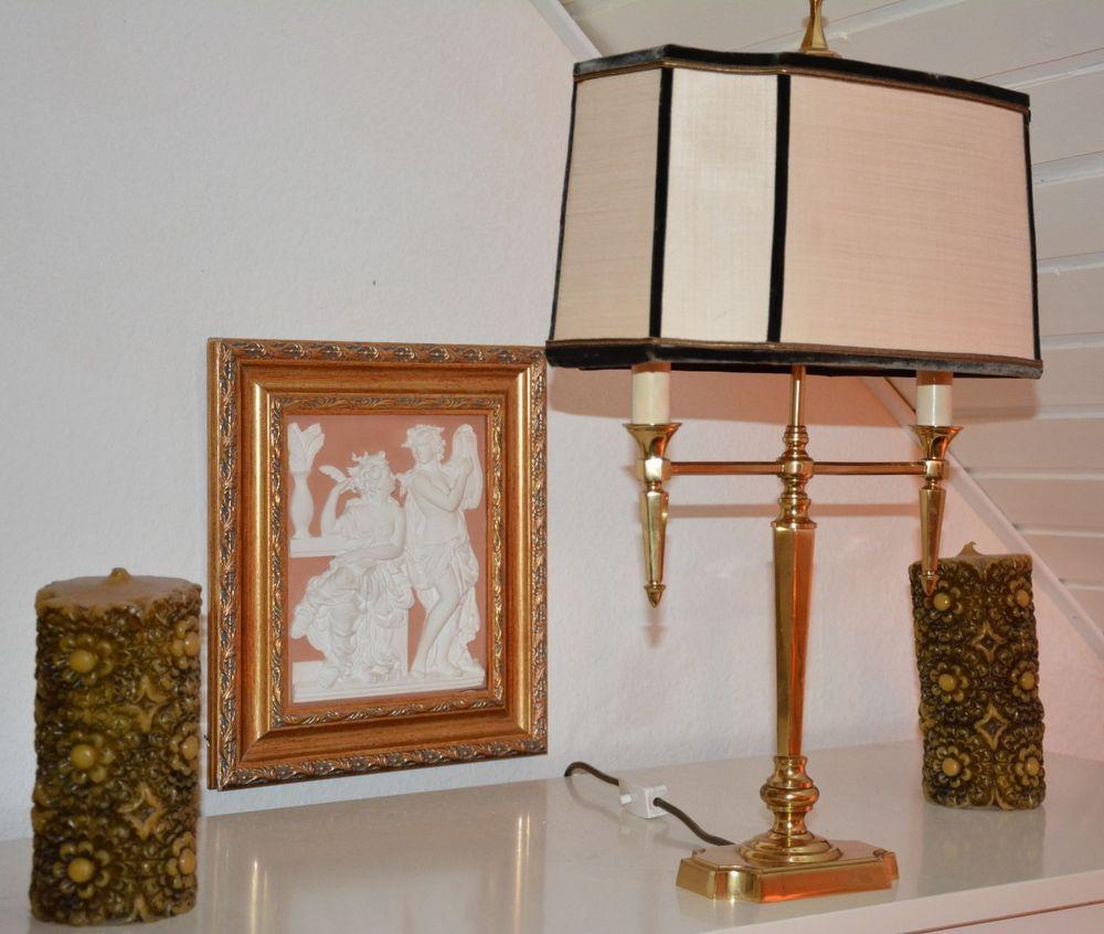 Hochwertige Stehlampe Tischlampe Antik Messing Tischlampen
