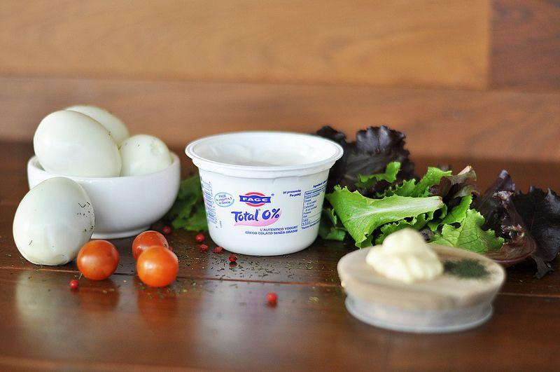 Ingredientes ensalada de huevo