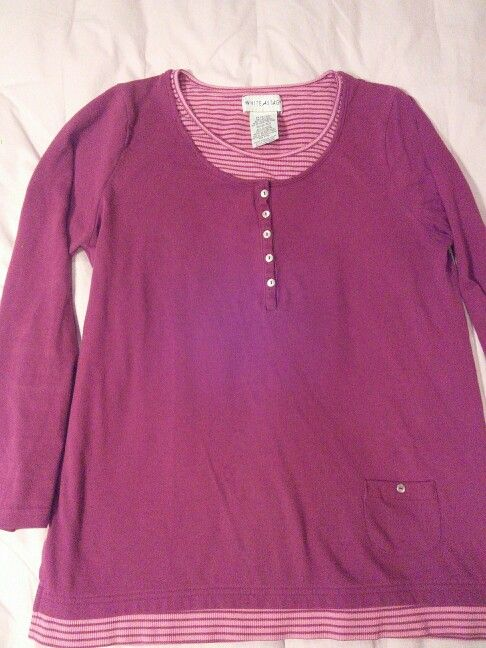 Red w/stripes henley (dar!er than 58, betw 52-60)