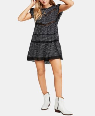 95eedd03a90151 Free People Retro Kitty Crochet-Trim Dress - Black XS in 2019 ...