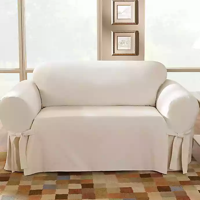 Sure Fit Duck Supreme Cotton Sofa Slipcover Bed Bath Beyond