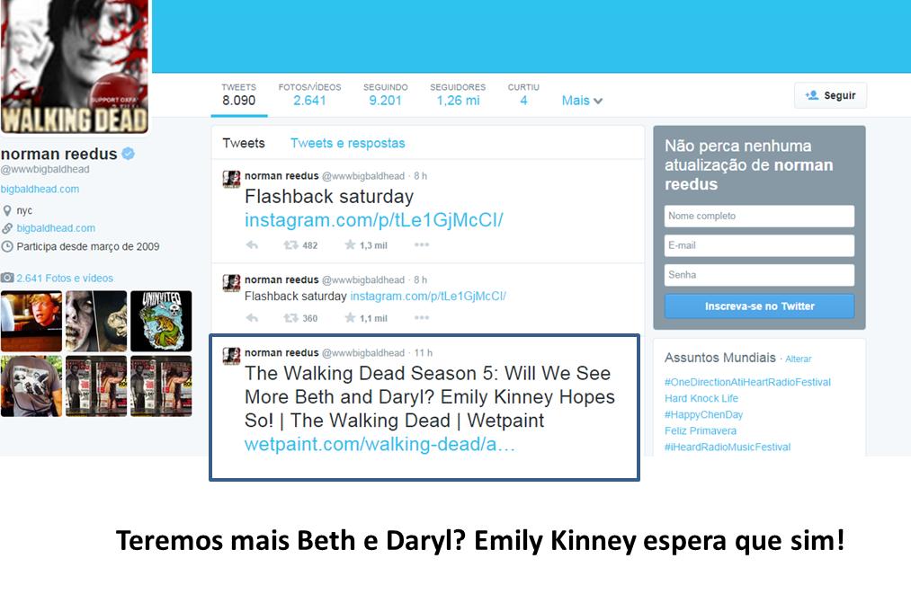 A Emily deu a entrevista e o Norman concordou! Parece que eles querem mais um pouco de Bethyl :)