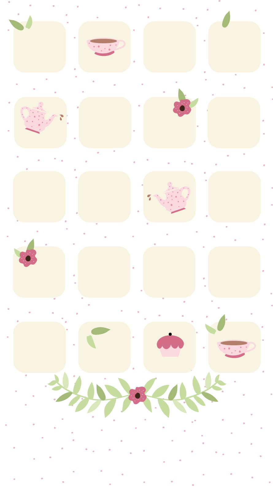 Simple Girly Teatime Iphone Home Screen Wallpaper Panpins