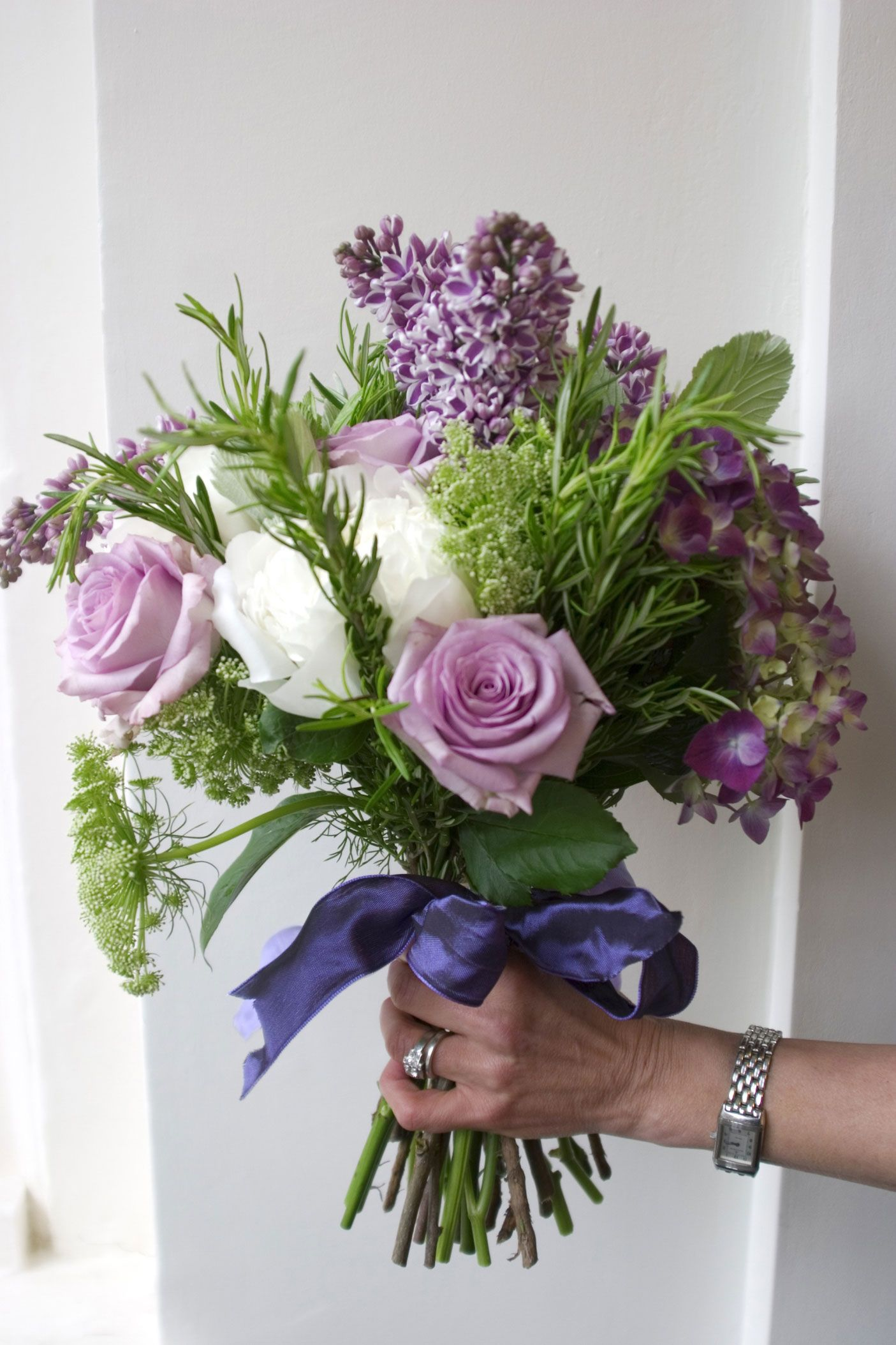 Lilac and hydrangea arrangements rose