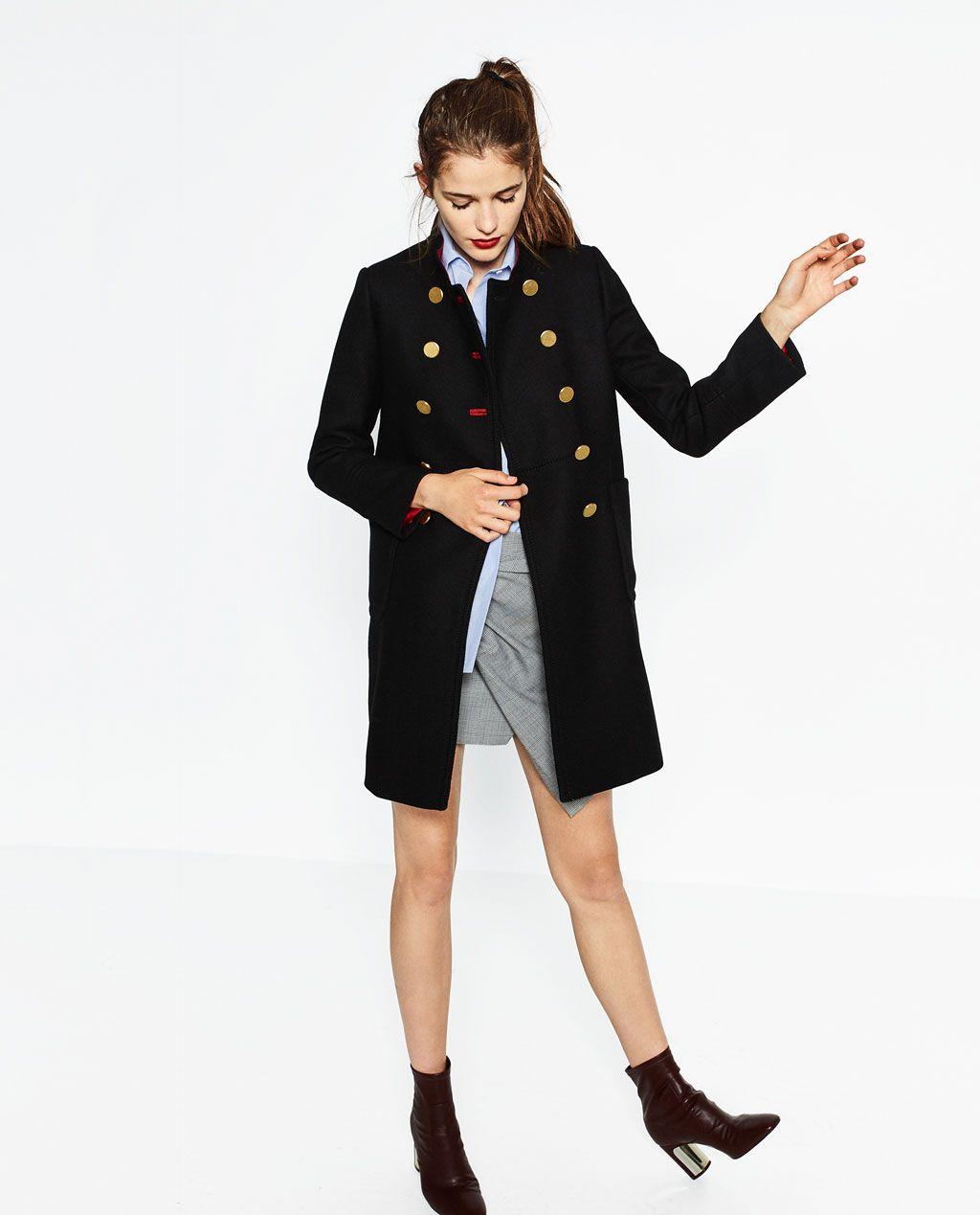 manteau deux rang es de boutons manteaux soldes femme. Black Bedroom Furniture Sets. Home Design Ideas